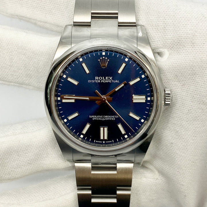 Rolex Oyster Perpetual 41Mm 124300 Blue Dial