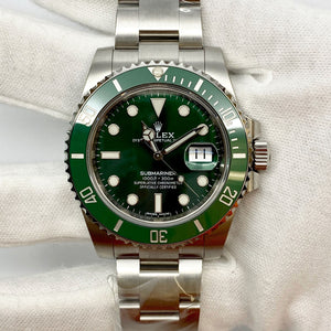 Rolex Submariner Date Ref 116610LV Hulk - The Watch Lounge Shop