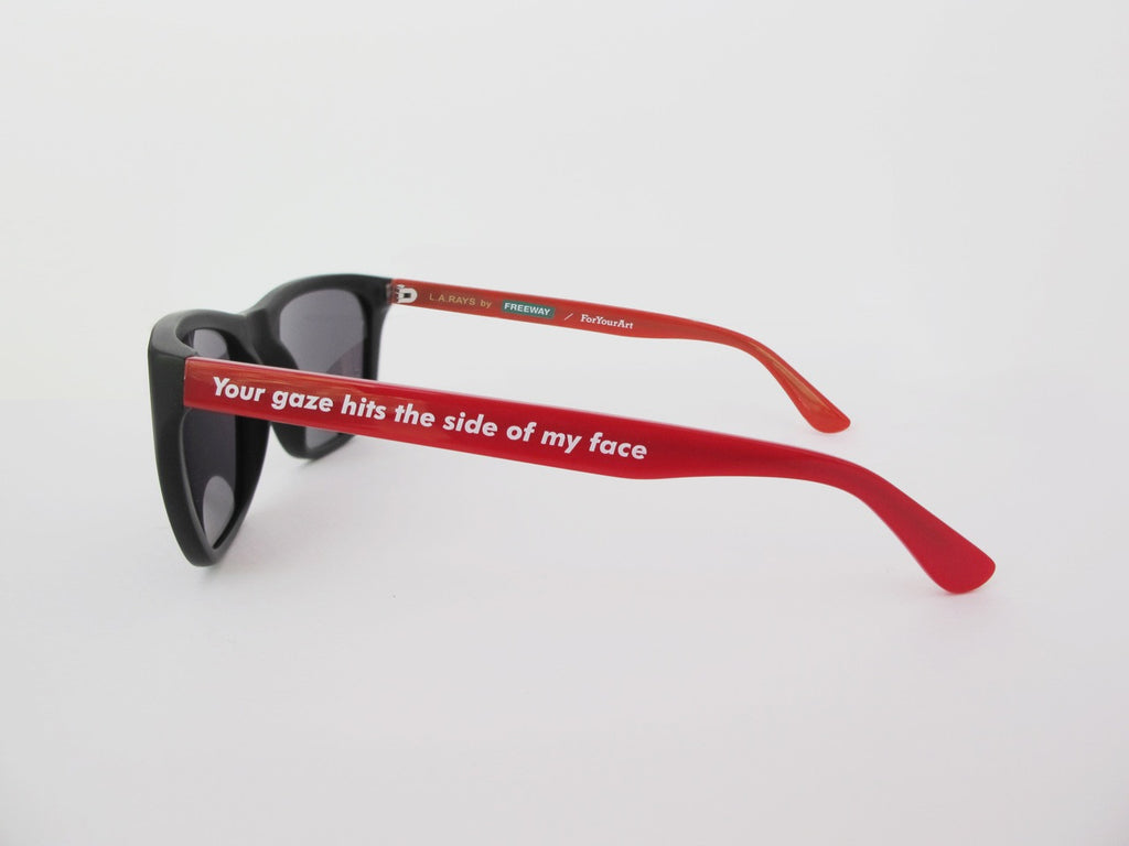Barbara Kruger L.A. Rays Sunglasses by Freeway Eyewear and ForYourArt