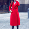 Slim Long Woolen Coats Thick Outerwear