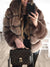Turtle Neck Long Sleeve Elegant Fur  Woman Coats