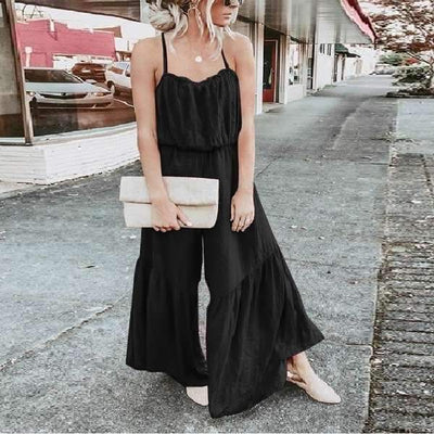 Casual Loose Gored Vest Jumpsuits
