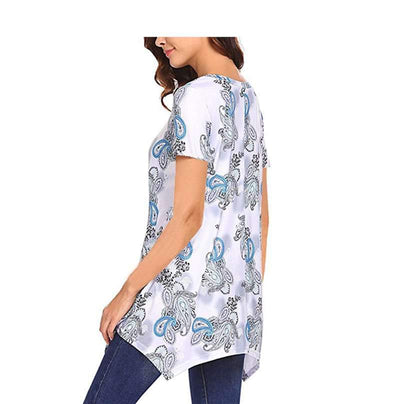 Floral Round neck Short sleeve T-Shirts