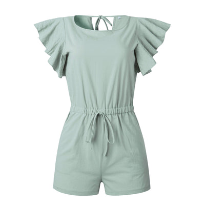 Fashion Falbala Lacing Jumpsuits