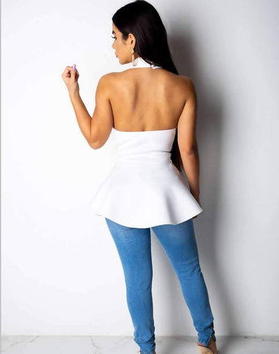 Sexy Backless  Falbala Blouses