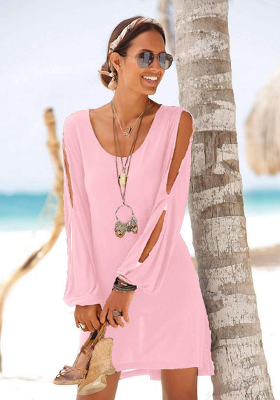 Casual Cutout Beach Shift Dresses