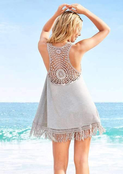 Pure Macrame Loose Vacation Dresses