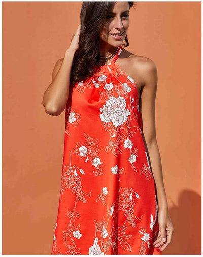 Floral Backless Off shoulder Shift Dresses