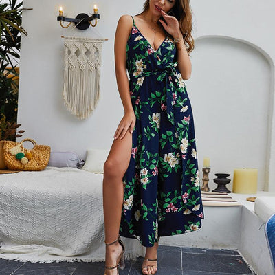 Sexy Strap  V neck Romper Jumpsuits