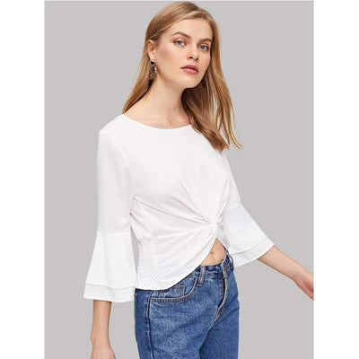 Fashion Pure Round neck T-Shirts