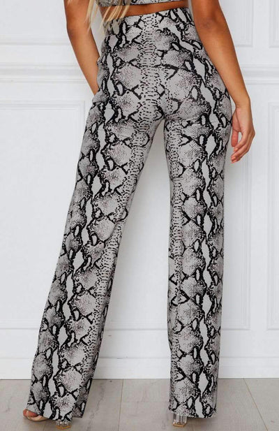 Casual Loose Serpentine Print Pants