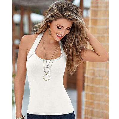 Fashion Sleeveless Halt Vests