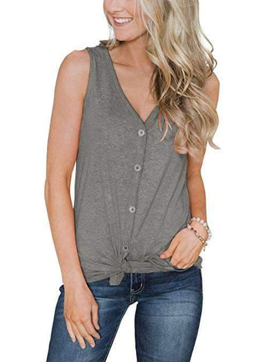 Fashion V neck Cardigan Vests