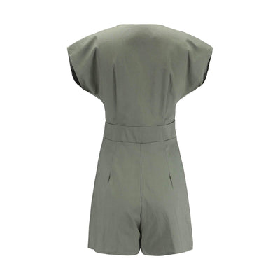 Loose Single-breasted V neck Jumpsuits