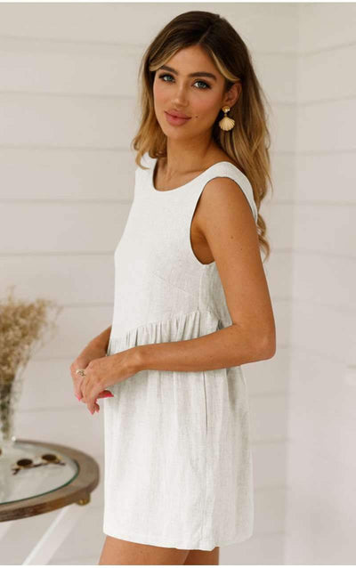 Fashion Round collar Backless Jumpsuits