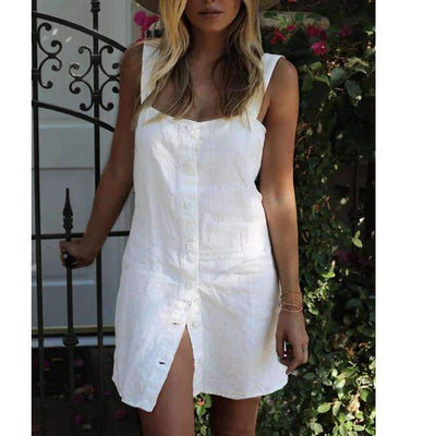 Fashion Pure Vest Blouse Shift Dresses