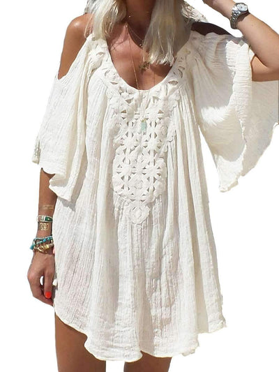 Fashion Pure Lace Loose Vacation Dresses