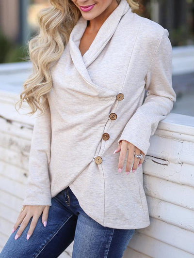 Long Sleeves Buttons Cardigan Sweatshirts