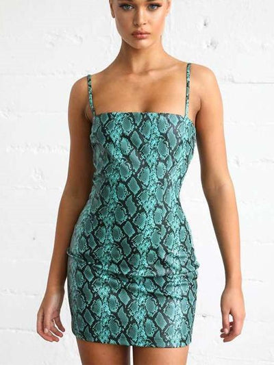 Sexy Serpentine Print Bodycon Dresses