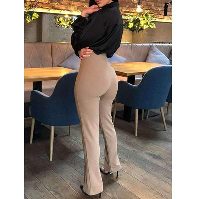 Sexy Casual Pure  High-waisted Pants
