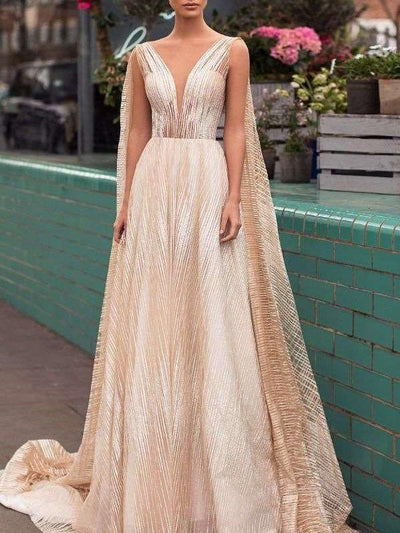Sexy Fashion V neck Evening Dresses
