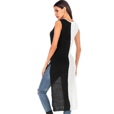 Fashion Knit Sleeveless Gored Sweaters