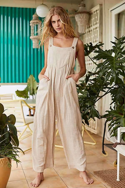 Fashion Pure Vest Jumpsuits