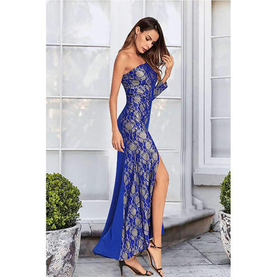 Sexy Lace Vent Sloping shoulder Evening Dresses