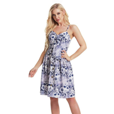 Fashion Print Vest Skater Dresses