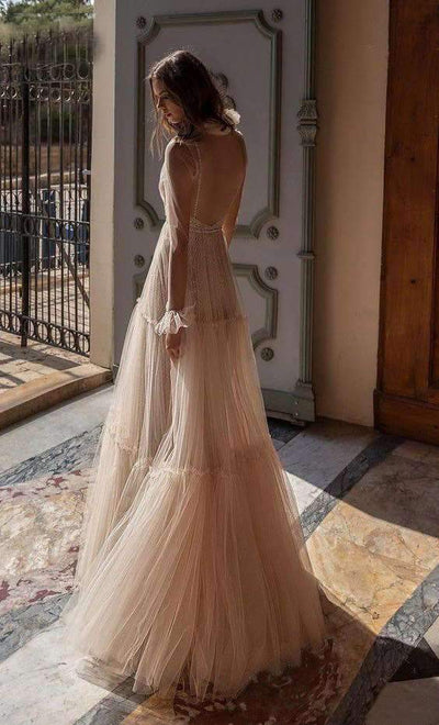 Sexy V neck Paillette Evening Dresses