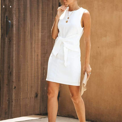 Fashion Sleeveless Lacing Skater Dresses