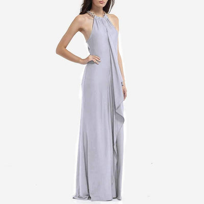 Sexy Gored Irregular Maxi Dresses