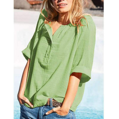 Casual V neck Short sleeve T-Shirts
