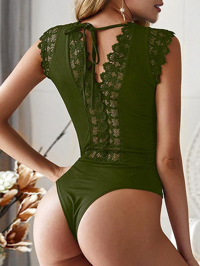 Sexy V neck Women Bikini Lace Swimwear