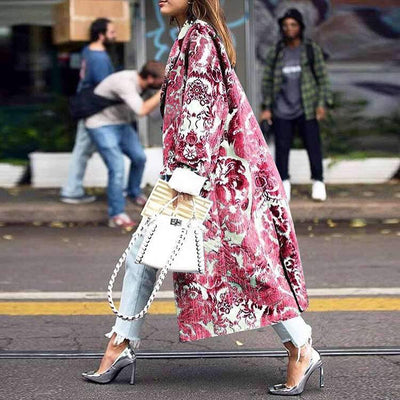 Fashion Print Long sleeve Coats