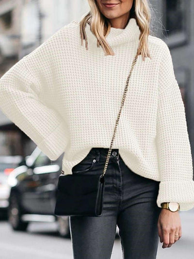 Fashion Loose High collar Knit Sweaters