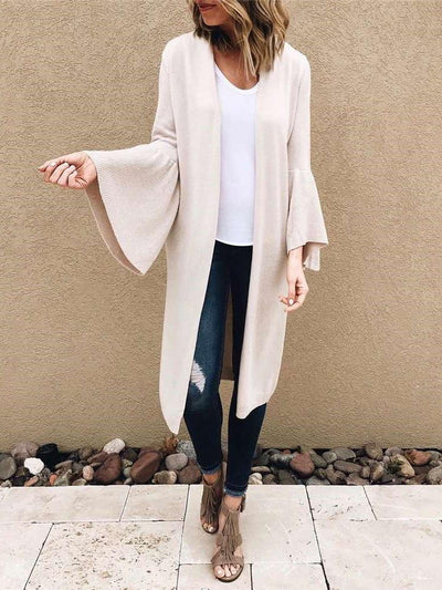 Fashion Mandarin sleeve Pocket Cardigan Coats