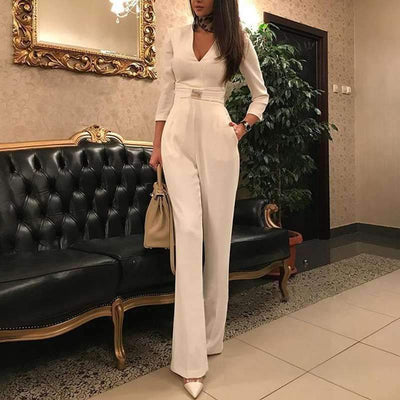 Sexy V neck Long sleeve Jumpsuits