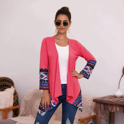 Fashion Gored Irregular Cardigan