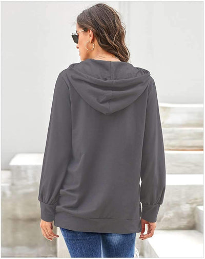 Loose Pure Hoodies Long sleeve Hoodies & Sweatshirts