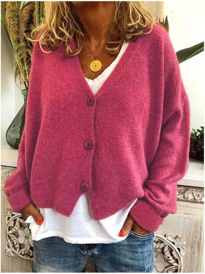 Casual Loose Knit Sweater Cardigan