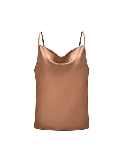 Chic Solid Color Adjustable Tank Top Gallus Sun-top Vests