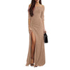 Fashion Shine Woman Sexy Off Shoulder Bodycon Dress Evening Dresses