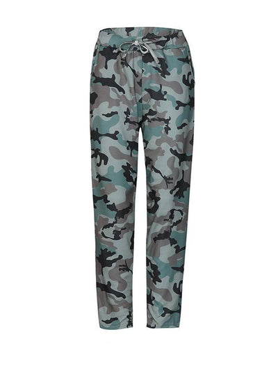 Loose Meisai Woman Daily Camouflage Long Pants