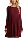 Spring long sleeves loose slim Shift Dress