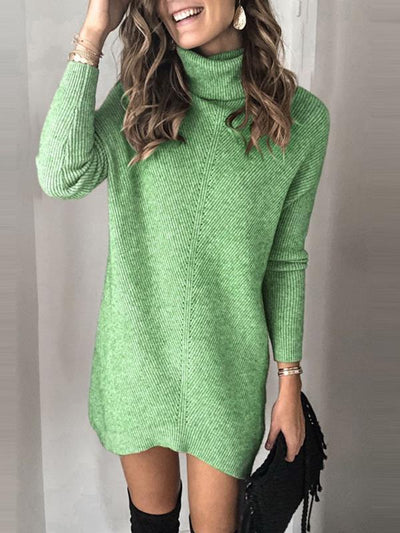 High neck warm plain good quality sweaters