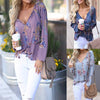 Tie Collar  Tassel  Printed Shirts&Blouses