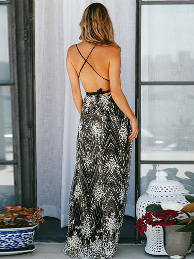 Sexy v-neck strapless backless women long evening dresses