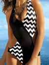Sexy Wave Pot One-piece Swimwear