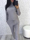 High Collar Warm Sweater Suit